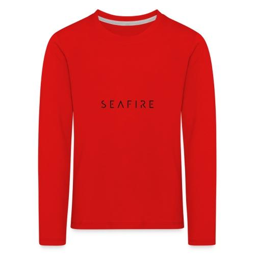 seafire logo BLACK - Kinderen Premium shirt met lange mouwen