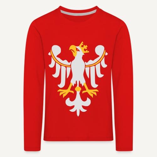 Orzeł Piastowski - Koszulka dziecięca Premium z długim rękawem