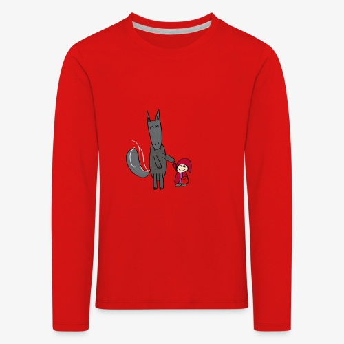 Le loup et le petit chaperon rouge - T-shirt manches longues Premium Enfant