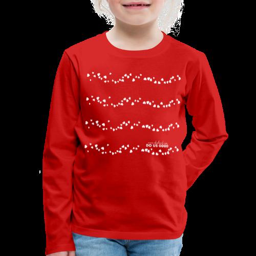 TWEET HEARTS - Lasten premium pitkähihainen t-paita