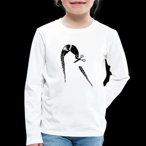 Greta FFF Fridays for future & Fridays for Hubraum - Kinder Premium Langarmshirt