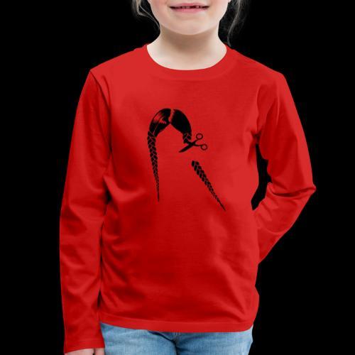 Greta FFF Fridays for future & Fridays for Hubraum - Kinder Premium Langarmshirt
