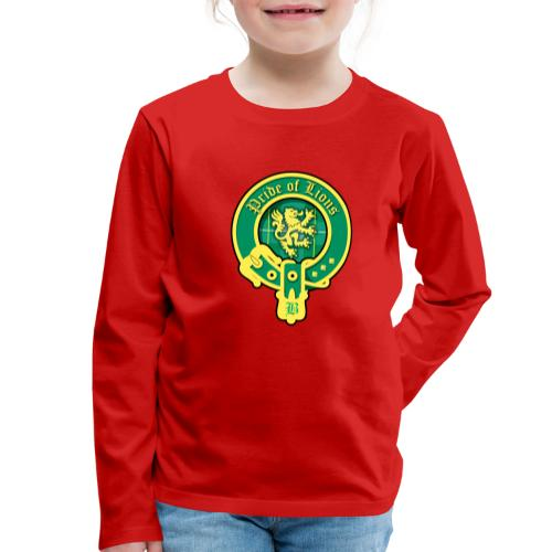 pride of lions logo - Kinder Premium Langarmshirt