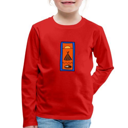 Samisk motiv - Premium langermet T-skjorte for barn
