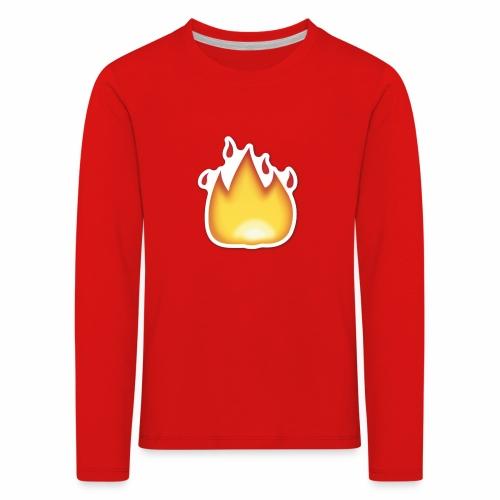 Liekkikuviollinen vaate - Lasten premium pitkähihainen t-paita