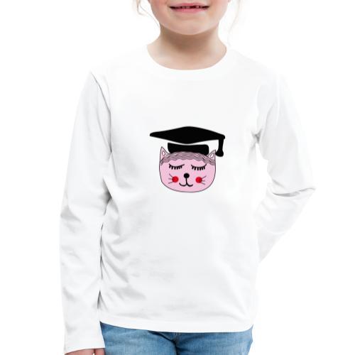 Akademikerin Katze - Kinder Premium Langarmshirt