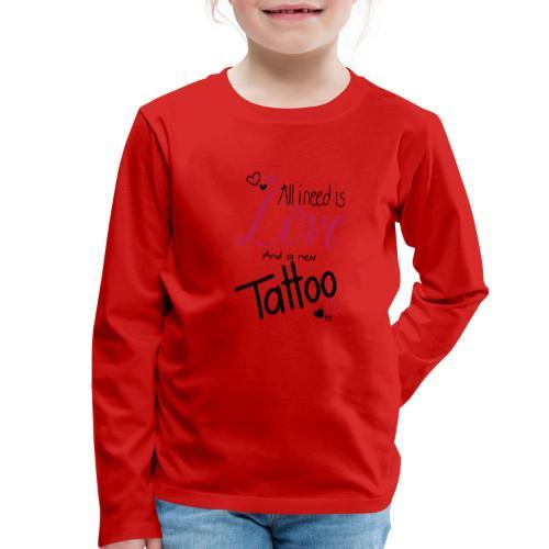 all i need is (schwarz) - Kinder Premium Langarmshirt