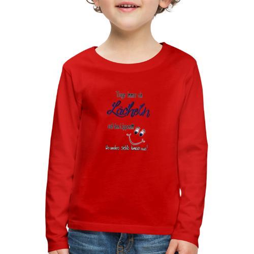 Lächeln - Kinder Premium Langarmshirt