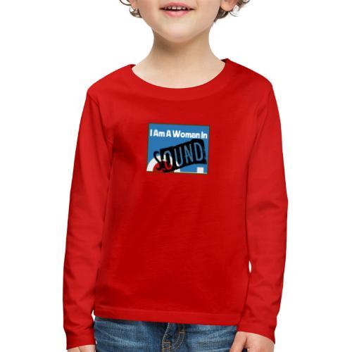 woman in sound - blue - Kids' Premium Longsleeve Shirt