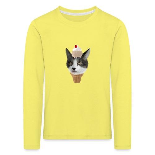 Ice Cream Cat - Kinder Premium Langarmshirt