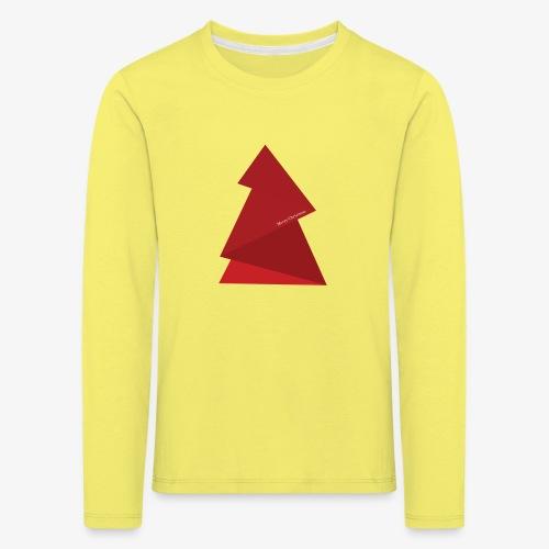 red triangles fir - Kids' Premium Longsleeve Shirt