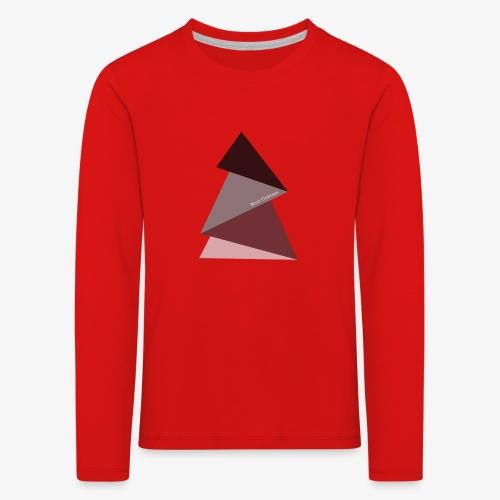 fir triangles 2 - Kids' Premium Longsleeve Shirt