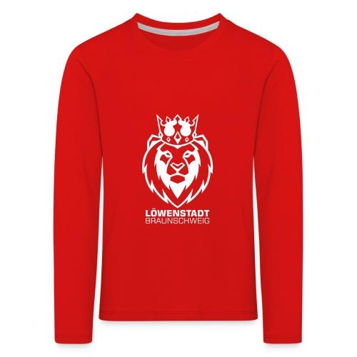 Löwenstadt Design 8 weiss - Kinder Premium Langarmshirt