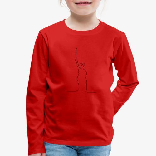 Kontur des Hermannsdenkmals - Kinder Premium Langarmshirt