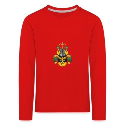 vaakuna, iso - Lasten premium pitkähihainen t-paita