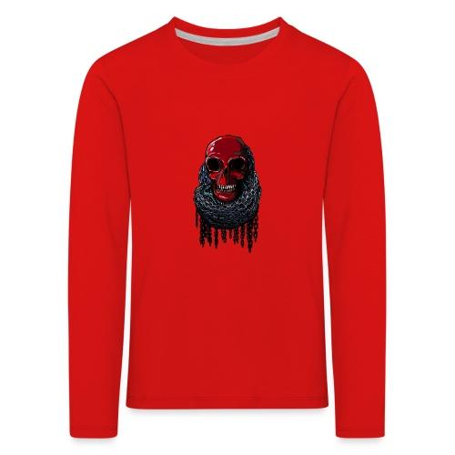 RED Skull in Chains - Kids' Premium Longsleeve Shirt