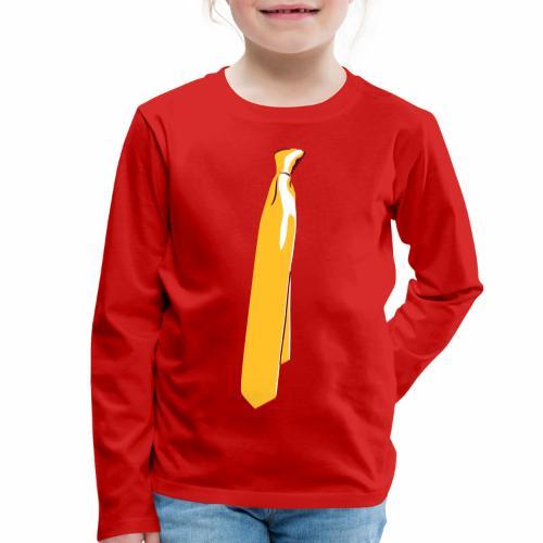 Corbata chic - Camiseta de manga larga premium niño