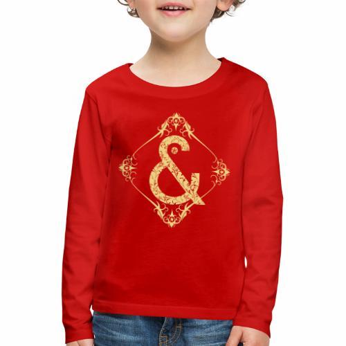 Floral & ... - Camiseta de manga larga premium niño