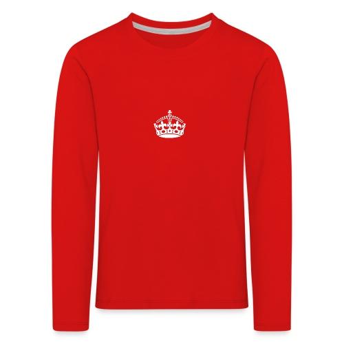 crown white png - Kids' Premium Longsleeve Shirt