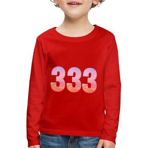 333 vous étes entouré de maitres ascensionnés - T-shirt manches longues Premium Enfant
