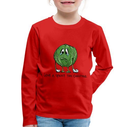 Christmas Sprout funny vegetable jumper - Maglietta Premium a manica lunga per bambini