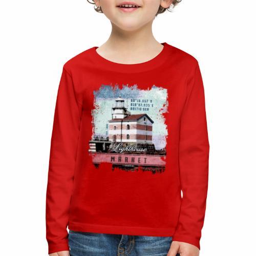Märket majakkatuotteet, Finland Lighthouse, väri - Lasten premium pitkähihainen t-paita