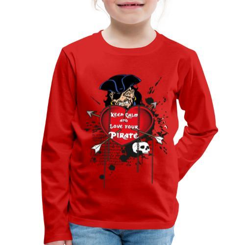love your pirate - Maglietta Premium a manica lunga per bambini