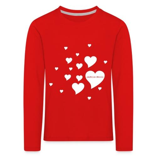American Spanish Corazones - Camiseta de manga larga premium niño