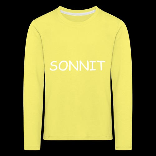 SONNIT WHITE OVER RED - Kids' Premium Longsleeve Shirt
