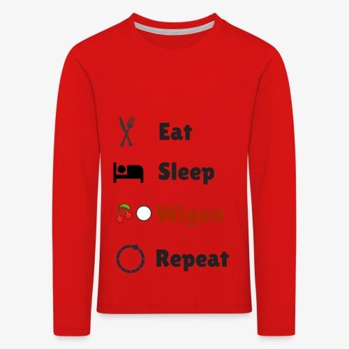 Eat Sleep Wigan Repeat - Kids' Premium Longsleeve Shirt