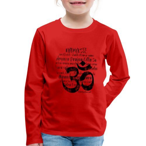 OM - Namaste black rugged - Kinder Premium Langarmshirt