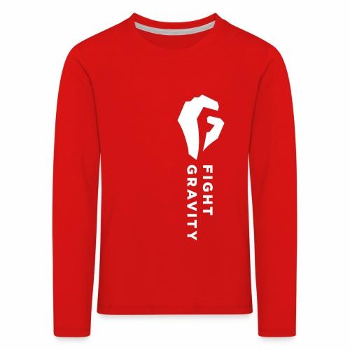 Faust überm Herz (weiss) - Kinder Premium Langarmshirt