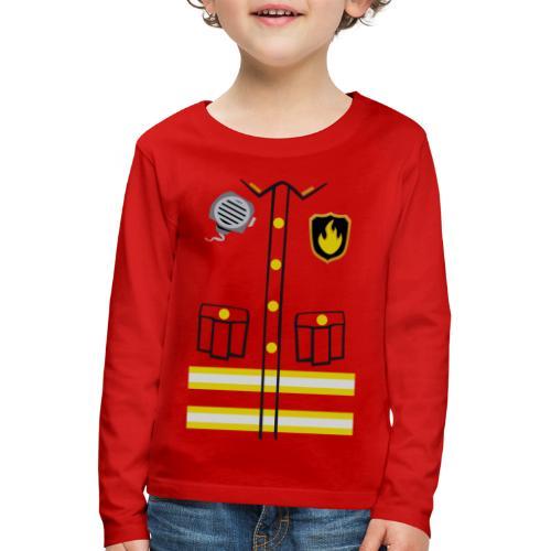 Firefighter Costume - Kids' Premium Longsleeve Shirt