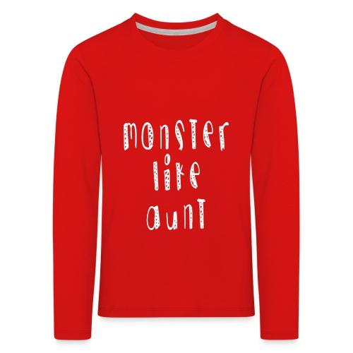 Aunt - Lasten premium pitkähihainen t-paita