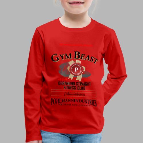 GYM BEAST - Kinder Premium Langarmshirt