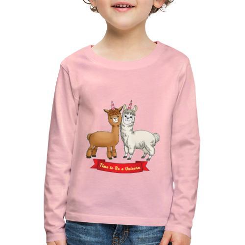Time to Be a Unicorn 12x14 CMYK - Kinder Premium Langarmshirt
