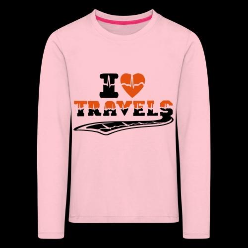 i love travels surprises 2 col - Kids' Premium Longsleeve Shirt