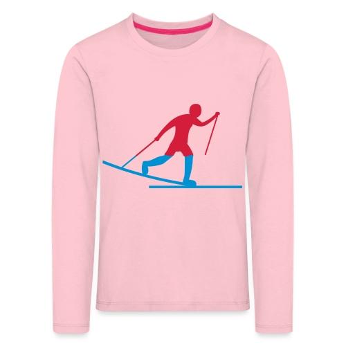 Skiløper - Premium langermet T-skjorte for barn