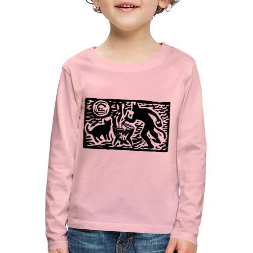 Teufel mit Katze - Kinder Premium Langarmshirt