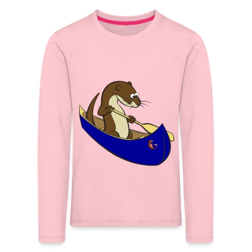 bluecanoewithsticker - Kids' Premium Longsleeve Shirt