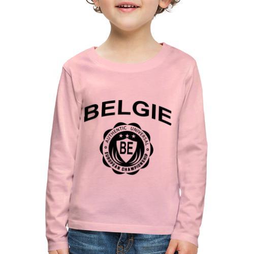 België - Kinderen Premium shirt met lange mouwen