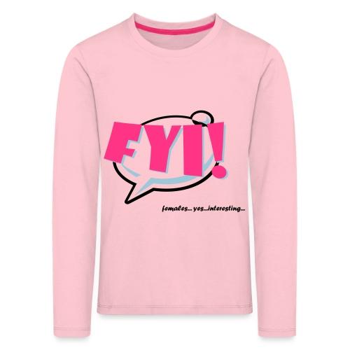 FYI.ai - Lasten premium pitkähihainen t-paita