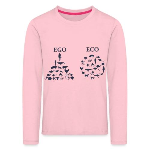 Ego VS Eco - Maglietta Premium a manica lunga per bambini