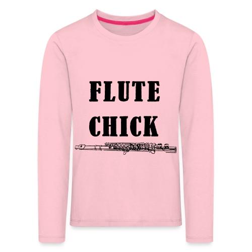 Flute Chick - Premium langermet T-skjorte for barn