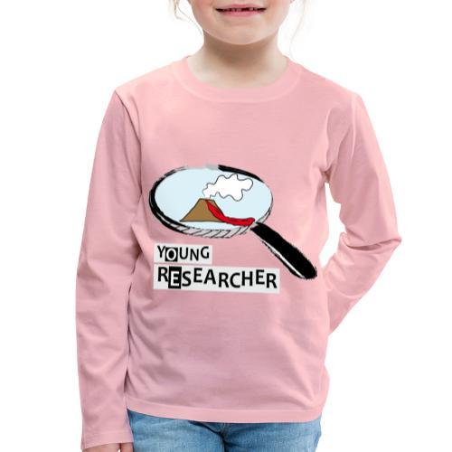 Young Researcher Volcano Wissenschaft - Kinder Premium Langarmshirt