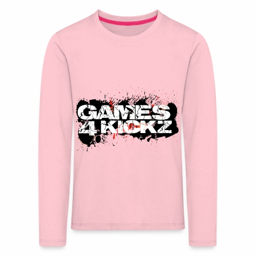 Games4Kickz Logo Splattered Background - Kids' Premium Longsleeve Shirt