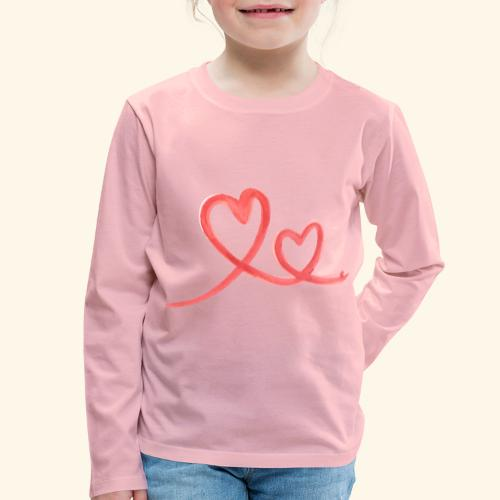 Duo Cœur Main levée - Saint Valentin - T-shirt manches longues Premium Enfant