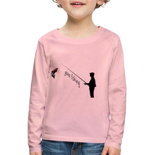 Angler - Kinder Premium Langarmshirt