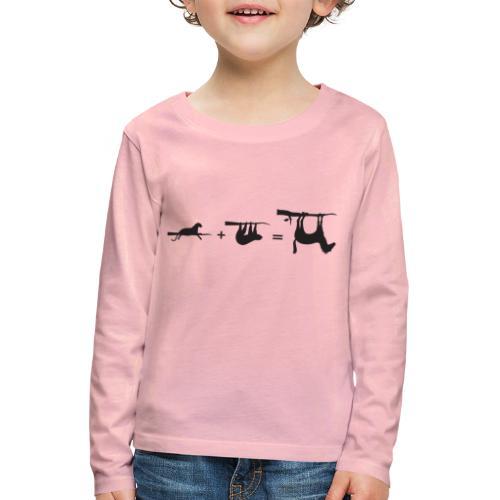 Lui paard Formule Luipaar - Kinderen Premium shirt met lange mouwen
