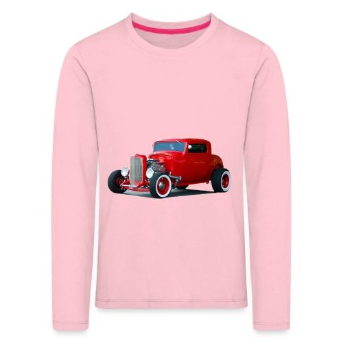 Hot rod red car - Kinderen Premium shirt met lange mouwen
